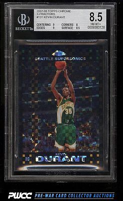 2007 Topps Chrome Xfractors Kevin Durant ROOKIE RC 50 BGS 85 NMMT PWCC