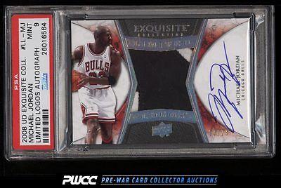 2008 Exquisite Limited Logos Michael Jordan AUTO PATCH 23 PSA 9 MINT PWCC