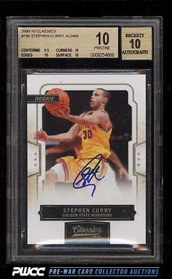 2009 Classics Stephen Curry ROOKIE RC AUTO 499 166 BGS 10 PRISTINE PWCC
