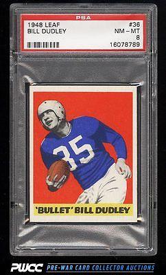 1948 Leaf Football Bullet Bill Dudley ROOKIE RC 36 PSA 8 NMMT PWCC