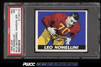 1948 Leaf Football Leo Nomellini ROOKIE RC 52 PSA 7 NRMT PWCC