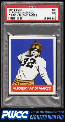 1948 Leaf Football Alfonso DiMarco ROOKIE RC 98 PSA 7 NRMT PWCCHE