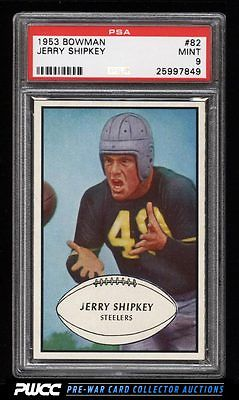 1953 Bowman Football Jerry Shipkey 82 PSA 9 MINT PWCC