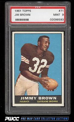 1961 Topps Football Jim Brown 71 PSA 9 MINT PWCC
