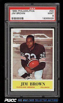 1964 Philadelphia Jim Brown 30 PSA 9 MINT PWCC
