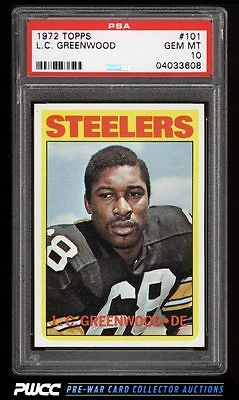 1972 Topps Football LC Greenwood ROOKIE RC 101 PSA 10 GEM MINT PWCC