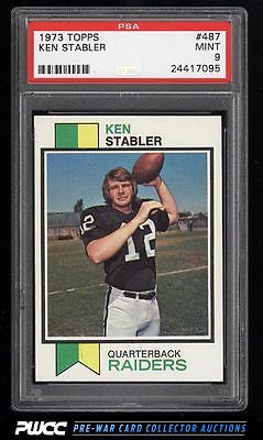 1973 Topps Football Ken Stabler ROOKIE RC 487 PSA 9 MINT PWCC