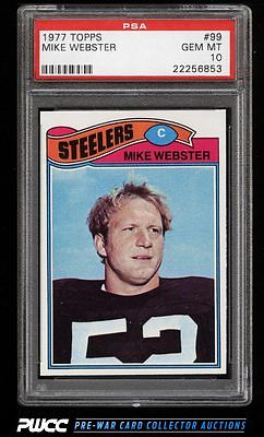 1977 Topps Football Mike Webster 99 PSA 10 GEM MINT PWCC