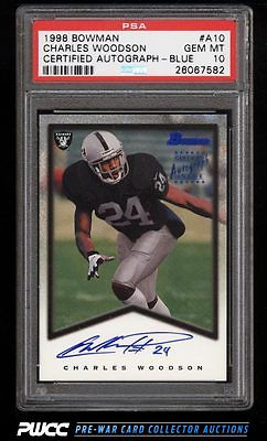 1998 Bowman Certified Blue Charles Woodson ROOKIE RC A10 PSA 10 GEM MINT PWCC