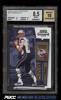 2000 Playoff Contenders Tom Brady ROOKIE RC AUTO 144 BGS 85 NMMT PWCC