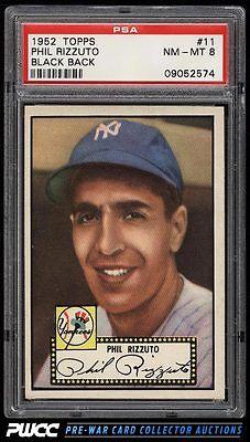 1952 Topps SETBREAK Phil Rizzuto BLACK BACK 11 PSA 8 NMMT PWCC