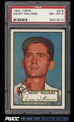 1952 Topps SETBREAK Davey Williams 316 PSA 8 NMMT PWCC