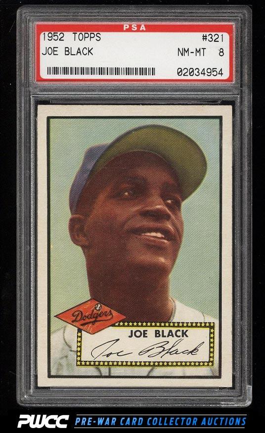 1952 Topps SETBREAK Joe Black ROOKIE RC 321 PSA 8 NMMT PWCC