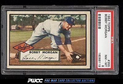 1952 Topps SETBREAK Bobby Morgan 355 PSA 8 NMMT PWCC