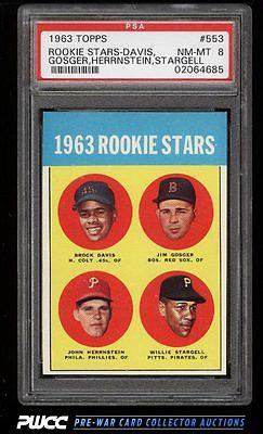 1963 Topps SETBREAK Willie Stargell ROOKIE RC 553 PSA 8 NMMT PWCC