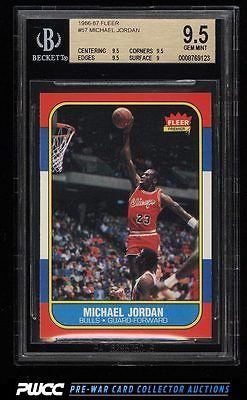 1986 Fleer Basketball SETBREAK Michael Jordan ROOKIE RC 57 BGS 95 GEM PWCC