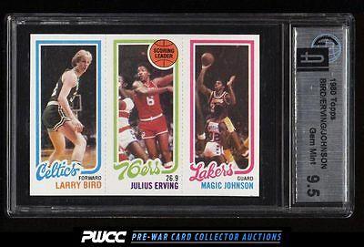 1980 Topps Basketball Larry Bird  Magic Johnson ROOKIE RC GAI 95 GEM MT PWCC
