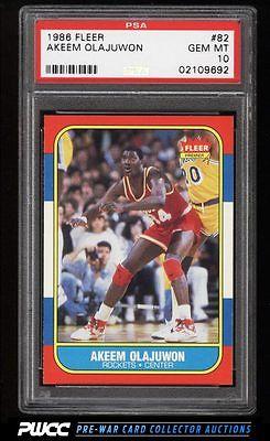 1986 Fleer Basketball Hakeem Olajuwon ROOKIE RC 82 PSA 10 GEM MINT PWCC