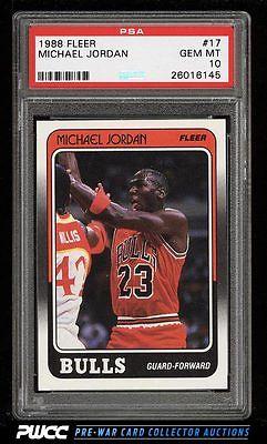 1988 Fleer Basketball Michael Jordan 17 PSA 10 GEM MINT PWCC