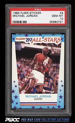 1989 Fleer Sticker Michael Jordan 3 PSA 10 GEM MINT PWCC