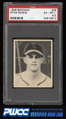 1948 Bowman Stan Musial ROOKIE RC 36 PSA 65 EXMT PWCCHE