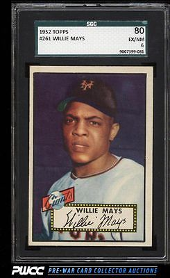 1952 Topps Willie Mays 261 SGC 680 EXMT PWCC