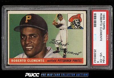 1955 Topps Roberto Clemente ROOKIE RC 164 PSA 4 VGEX PWCC