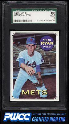 1969 Topps Nolan Ryan 533 SGC 888 NMMT PWCCHE