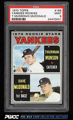 1970 Topps Thurman Munson ROOKIE RC 189 PSA 9 MINT PWCC
