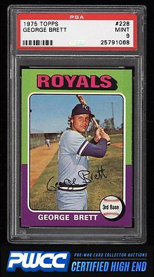 1975 Topps George Brett ROOKIE RC 228 PSA 9 MINT PWCCHE