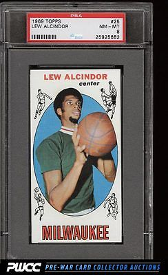 1969 Topps Basketball Lew Alcindor ROOKIE RC 25 PSA 8 NMMT PWCC