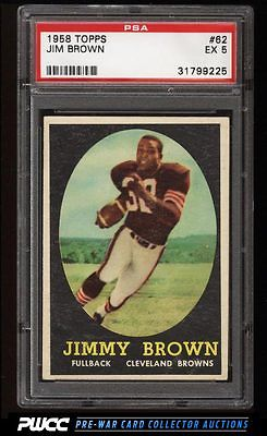 1958 Topps Football Jim Brown ROOKIE RC 62 PSA 5 EX PWCC