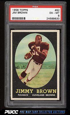 1958 Topps Football Jim Brown ROOKIE RC 62 PSA 6 EXMT PWCC
