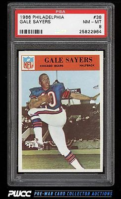 1966 Philadelphia Gale Sayers ROOKIE RC 38 PSA 8 NMMT PWCC