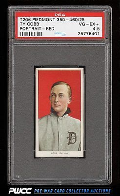 190911 T206 Ty Cobb RED PORTRAIT PSA 45 VGEX PWCC