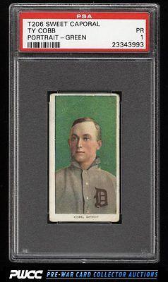 190911 T206 Ty Cobb GREEN PORTRAIT PSA 1 PR PWCC