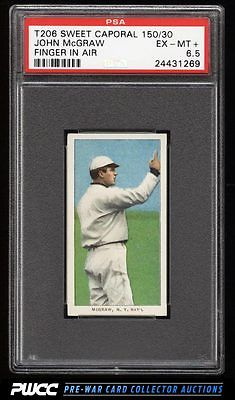 190911 T206 John McGraw FINGER IN AIR PSA 65 EXMT PWCC