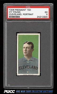190911 T206 Cy Young CLEVELAND PORTRAIT PSA 5 EX PWCC