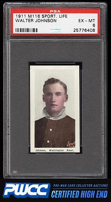 1911 M116 Sporting Life Walter Johnson PSA 6 EXMT PWCCHE