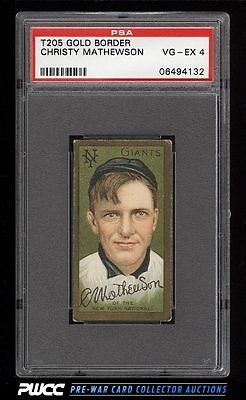 1911 T205 Gold Border Christy Mathewson PSA 4 VGEX PWCC