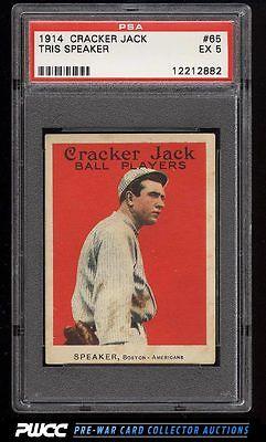 1914 Cracker Jack Tris Speaker 65 PSA 5 EX PWCC