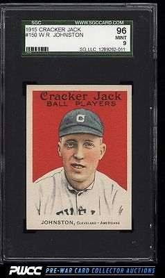 1915 Cracker Jack Doc Johnston 150 SGC 996 MINT PWCC