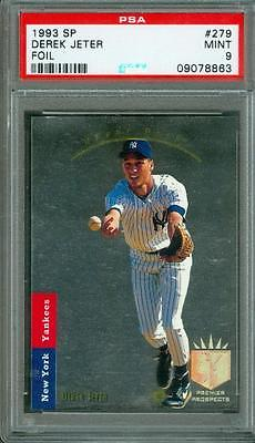 1993 SP Foil Derek Jeter 279 PSA 9 Rookie Yankees HOF Sharp Corners Beauty