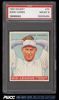 1933 Goudey Jesse Pop Haines 73 PSA 8 NMMT PWCC