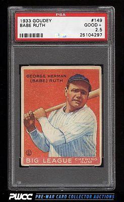 1933 Goudey Babe Ruth 149 PSA 25 GD PWCC