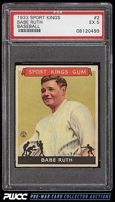 1933 Goudey Sport Kings Babe Ruth 2 PSA 5 EX PWCC