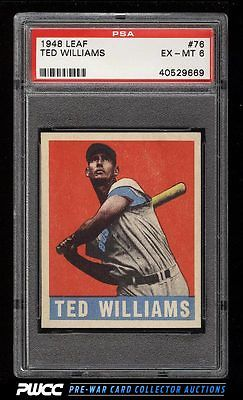 1948 Leaf Ted Williams 76 PSA 6 EXMT PWCC