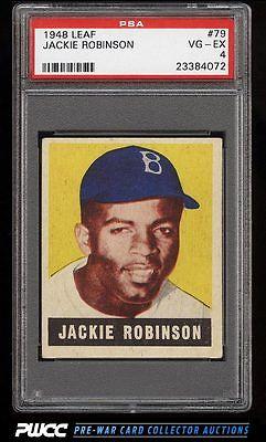 1948 Leaf Jackie Robinson ROOKIE RC 79 PSA 4 VGEX PWCC