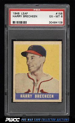 1948 Leaf Harry Brecheen SP ROOKIE RC 158 PSA 6 EXMT PWCC