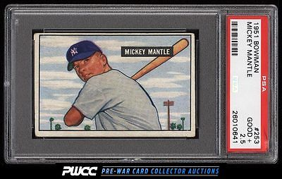 1951 Bowman Mickey Mantle ROOKIE RC 253 PSA 25 GD PWCC